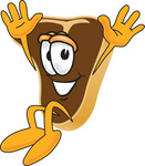 Clip Art Graphic of a Beef Steak Meat Mascot Character Jumping