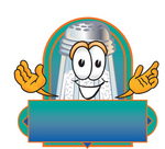 Clip Art Graphic of a Salt Shaker Cartoon Character on a Blank Label