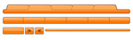 Clip Art Graphic of Orange Web Design Tabs And Elements