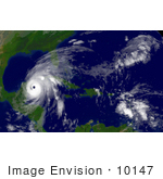 #10147 Picture Of Hurricane Wilma As A Category 4