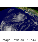 #10544 Picture Of Tropical Depression Kevin