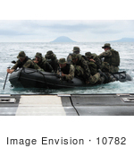 #10782 Picture Of Marines Guiding An Assault Boat