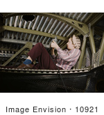 #10921 Picture of a Woman Riveting an A-20 Bomber by JVPD