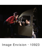 #10923 Picture Of Riveters Assembling An Airplane