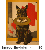 #11139 Picture Of A Dog Asking For Red Cross Donations