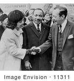 #11311 Picture Of Martin Luther And Coretta King With Robert Wagner