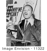 #11322 Picture Of Mlk At A Press Conference