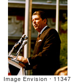 #11347 Picture of Reagan During a Speech by JVPD