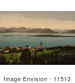 #11513 Picture Of A Church And Buildings Molde Norway