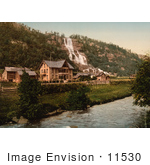 #11530 Picture Of Tvindefos Waterfall And Hotel Hardanger Fjord