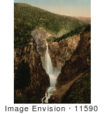 #11590 Picture Of A Waterfall Rjukanfos Telemark Norway