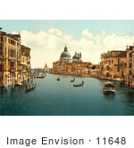 #11648 Picture Of Gondolas Grand Canal Venice Italy