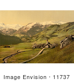 #11737 Picture Of A Village Near The Swiss Alps Bernese Oberland