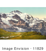 #11829 Picture Of Jungfrau Mountain And Scheidegg Pass