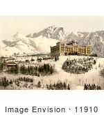 #11910 Picture Of Hotel De Caux Ochers De Naye And Dent De Jaman In Winter