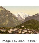 #11997 Picture Of Interlaken And Jungfrau In Switzerland