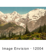 #12004 Picture Of Eiger Monch And Jungfrau Mountains