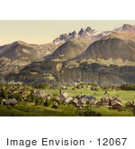 #12067 Picture Of Dents Du Midi And Champery Switzerland