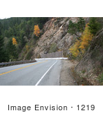#1219 Picture Of A Landslip Area Beside An Oregon Highway