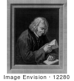 #12280 Picture Of Benjamin Franklin Reading