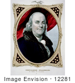 #12281 Picture Of A Benjamin Franklin Portrait