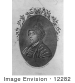 #12282 Picture Of Benjamin Franklin With Fur Hat And Glasses