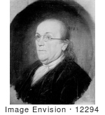 #12294 Picture Of Benjamin Franklin Facing Left Wearing Eye Glasses