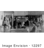 #12297 Picture of Benjamin Franklin in the First Library in Philadelphia by JVPD
