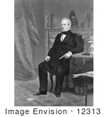 #12313 Picture Of Edward Everett Seated By Table And Fireplace