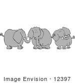 #12397 Three Elephants In Discussion Clipart