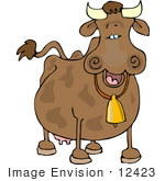 #12423 Happy Cow Clipart