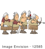 #12585 Armed Soldiers Clipart