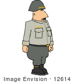 #12614 General In Uniform Clipart