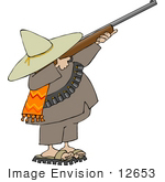 #12653 Male Bandito With A Rifle Clipart