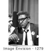 #1279 Photo Of Bayard Rustin At A News Briefing On The Civil Rights March On Washington