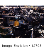 #12793 Picture of an Auto Wrecking Junk Yard by JVPD