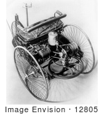#12805 Picture Of A Benz Three Wheeler Automobile