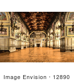 #12890 Picture Of The Gallery Of Henry Ii At Fontainebleau Palace