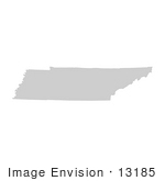 #13185 Picture Of A Map Of Tennessee Of The United States Of America
