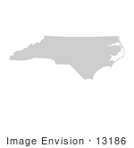 #13186 Picture Of A Map Of North Carolina Of The United States Of America