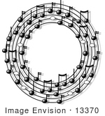 #13370 Ring Of Music Clipart