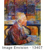 #13407 Picture Of Vincent Van Gogh Seated At A Table