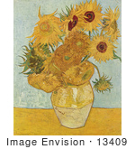 #13409 Picture Of A Vase With Twelve Sunflowers By Vincent Van Gogh