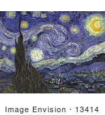 #13414 Picture Of The Starry Night C 1889 By Vincent Van Gogh