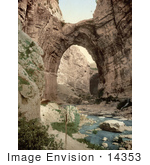 #14353 Picture Of A Natural Arch Over The Stream Constantine Algeria