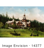 #14377 Picture Of Pelesch Castle Or Peles Castle Sinaia Roumania