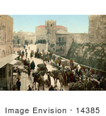 #14385 Picture Of A Street Of The Tower Of David Jerusalem