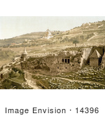 #14396 Picture Of The Valley Of The Tombs Of Jehoshaphat Jerusalem Israel