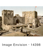 #14398 Picture Of David And Hippicus Towers In Jerusalem Israel