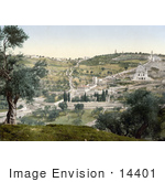 #14401 Picture Of Mount Olivet And Garden Of Gethsemane